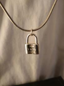 padlock pendant and chain