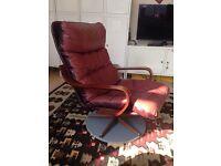 Danish style lounge armchair