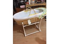 Moses basket mother care brandnew with stand with free bouncer