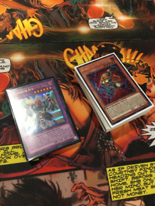 COMPLETE YUGIOH GLADIATOR BEAST DECK W EXTRA DECK & SLEEVES