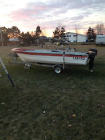 17 foot boat with galvanize trailer