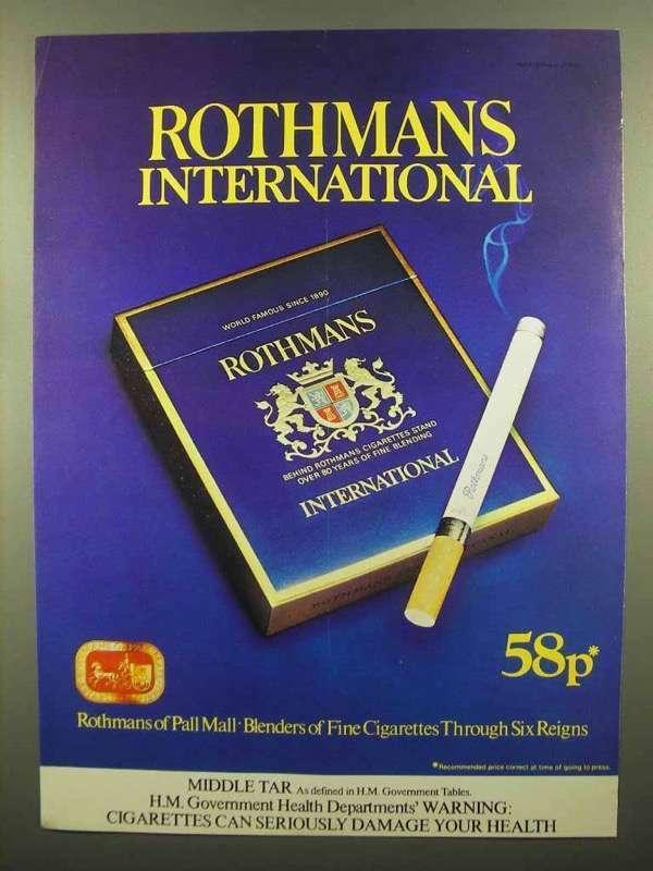 1978 Rothmans International Cigarettes Ad!