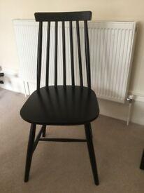 Next Black wooden chair x 4 £25 per chair ono