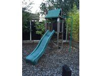 Dunster House Wooden Play Frame & Slide