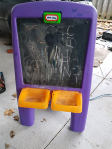 Large chalkboard/painting easel for kids