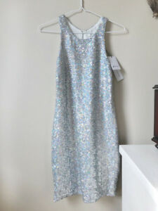 Nasty Gal Silver Sequin New Years Party Dress, small, unworn