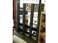 Shop display glass shelves