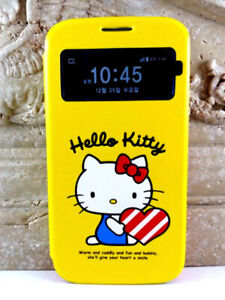 HELLO KITTY YELLOW FLIP S VIEW CASE FOR SAMSUNG GALAXY S4