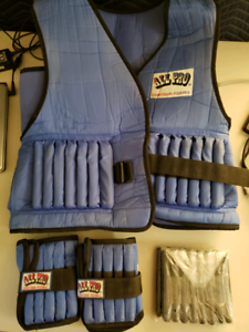 weighted vest and ankle weights