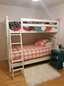 Young America white bunk beds