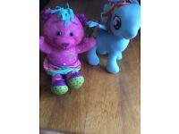 Rainbow dash and doodle bear teddies