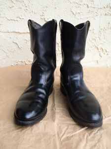 EUC Mens Black Leather Western Boots Williams Lake Cariboo Area image 2