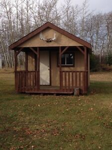 Cabin for sale.