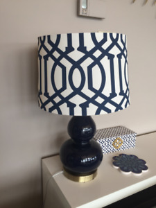 Navy and Brass Table lamp
