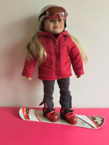 Maplelea Girls Snowboard and Outfit