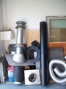 """6"""" Natural gas fireplace pipe and capping"""