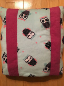 Soft Fleece Owl Quillow: Pillow with Fold-up Blanket