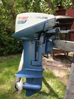 Evinrude 9.9hp electric start outboard boat