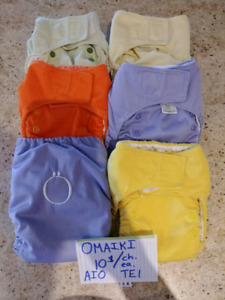 Many cloth diapers / Beaucoup couches lavables