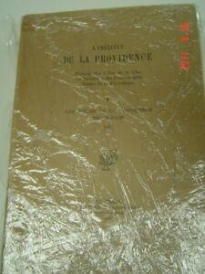 ((( L'INSTITUT DE LA PROVIDENCE  ))) – 6 volumes