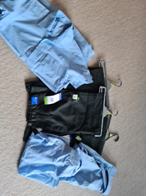 Boys school uniform. Age 11 12. 3 new trousers. 2 New shirts 2 worn