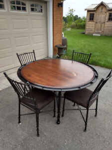 Metal Poker Table and Chairs