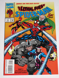 Marvel Comics Deadly Foes of Spider-Man's 1,2,3 & 4 comic book