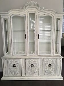 French Country China Cabinet and Dinning Table