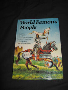 World Famous People / Joan of Arc / Columbus / Wright Bros H/C