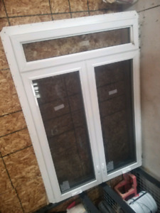 Double casement with transom brand new