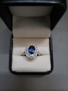 3ct. Sapphire Engagement Ring
