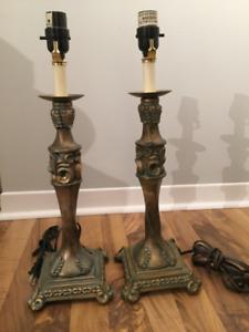 Paire de pieds de lampes de table