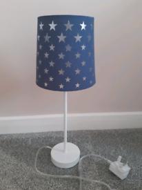 Boys Navy Blue Star Night Light Lamp Nightlight