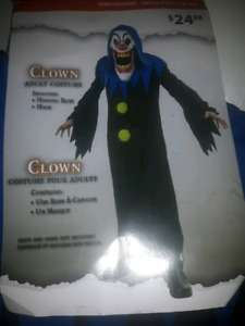 MENS SIZE SMALL SCARY CLOWN COSTUME PICKUP IN HANOVER AREA