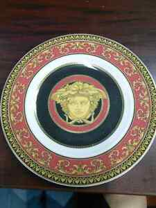 Authentic VERSACEMedusa Red Bread and Butter Plate