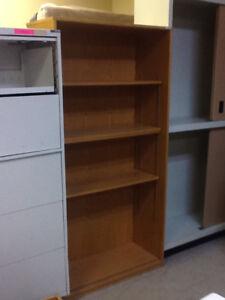 Large Oak Bookcase with 4 shelves