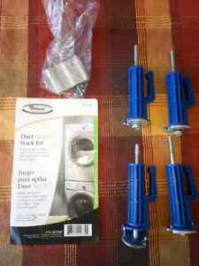 Whirlpool washing machine stack kit and shipping bolts
