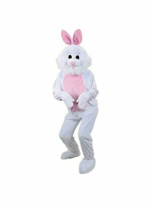 Bunny Rabbit Mascot Costume Suit Cosplay Party Game Dress Outfit Halloween - Bunny Mascot Suit