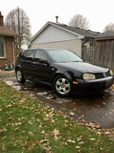 2003 Black Volkswagen Golf Hatchback