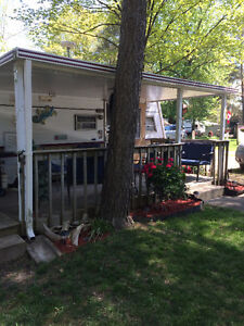 32 ' Trailer/Deck for Sale-Shady Pines Campground