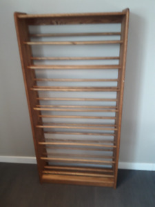 Solid Oak CD/DVD Rack