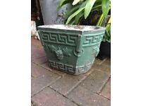 Vintage weathered garden planter