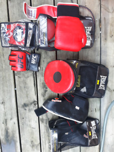 UFC gloves, speed mitts, feet/ shin cover