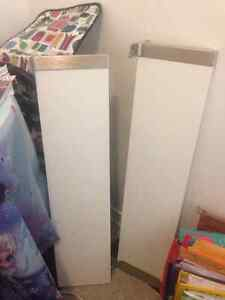 Set of 2 white IKEA shelves