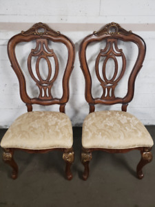 New Large Hand Crafted Traditional Solid Cherry Wood Side Chairs
