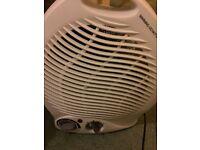 Portable electric fan heater