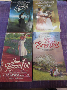 Selection of 4  L M Montgomery books - Across the miles etc