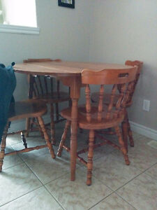 Dining room table with 4 chairs $100 OBO