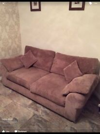 Large 3 seater sofa and 1 chair