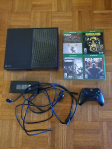 Xbox one with controller and 5 games (Adult owned)